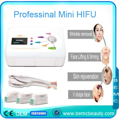 Portable Mini HIFU face lifting for wrinkle removal skin tight home